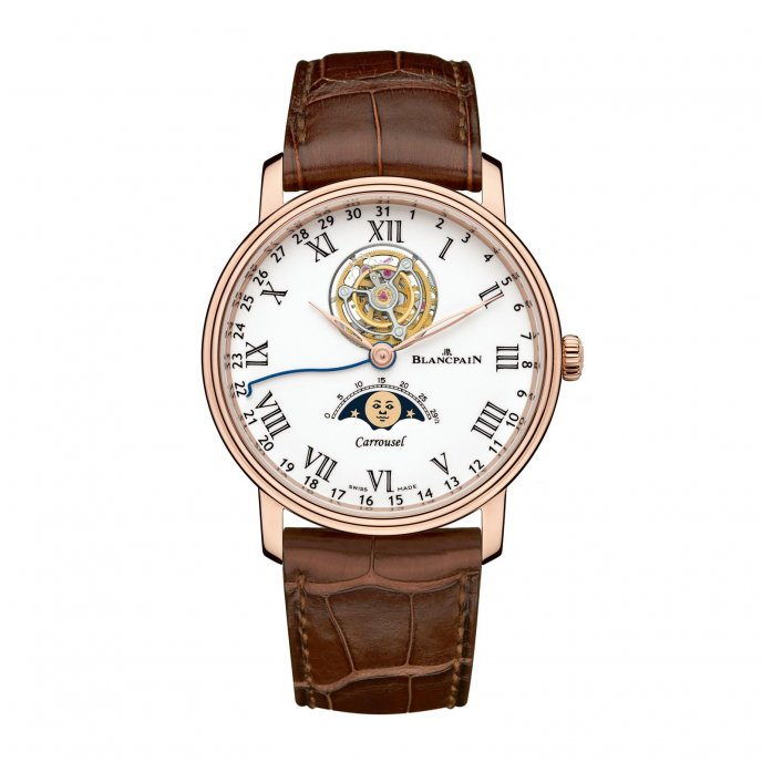 Blancpain Villeret Carrousel Phases de Lune Watch-face-view