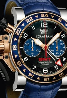 Oversize GMT Blue Steel and Gold