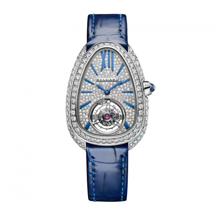 Serpenti Seduttori Tourbillon White gold