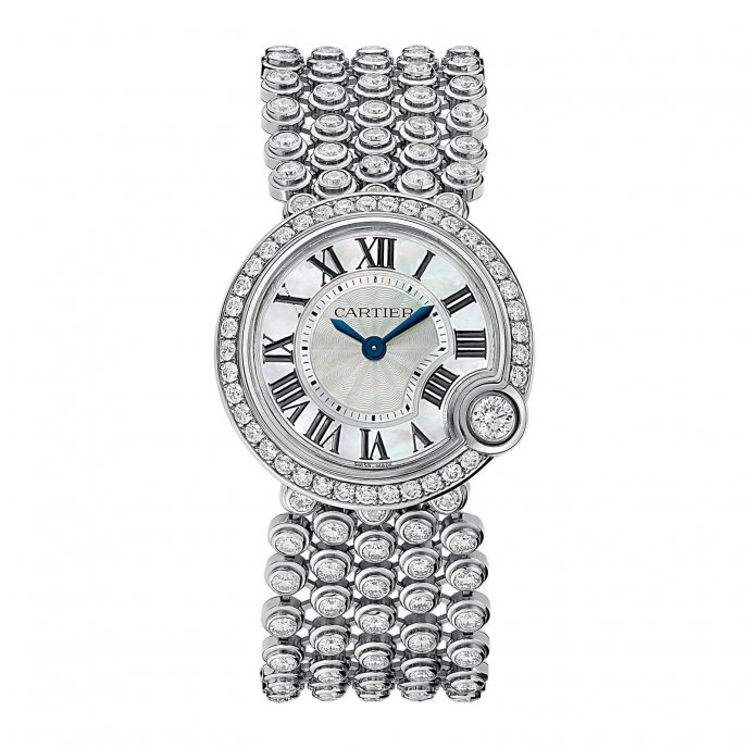Cartier Montre Ballon Blanc de Cartier or gris 30mm - watch face view