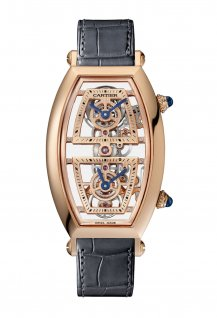 Pink Gold Skeleton Dual Time Zone Watch