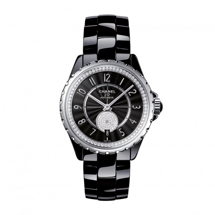 Chanel J12 365 Black Diamonds Watch-face-view
