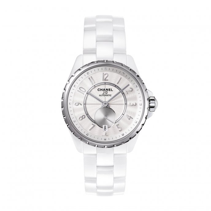 Chanel J12 365 White Silver Watch-face-view