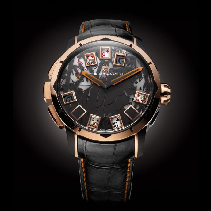 Christophe Claret Montres à Complications Ludiques Blackjack MTR.BLJ08.370-391 - watch face view