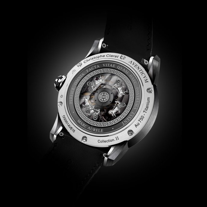 Christophe Claret Traditional Complications Watches Aventicum White Gold Watch Back View