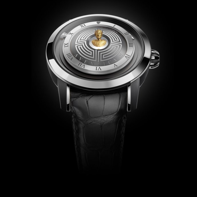 Christophe Claret Traditional Complications Watches Aventicum White Gold Watch Front View