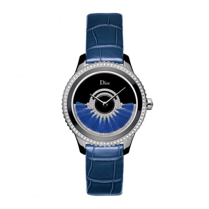 Dior VIII Grand Bal CD124BE3A001 - watch face view - leather strap