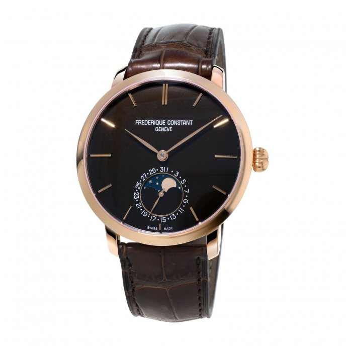 Frédérique Constant Manufacture Slimline Moonphase FC-705C4S9 watch-face-view