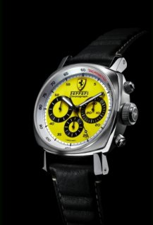 Ferrari Chronograph Yellow Dial 45 mm, Steel