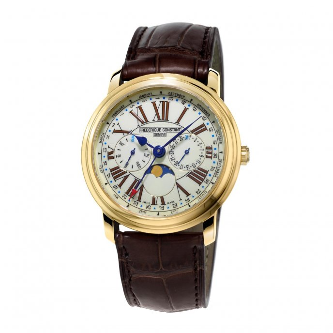 Frédérique Constant Classics Business Timer FC-270EM4P5 Watch-face-view