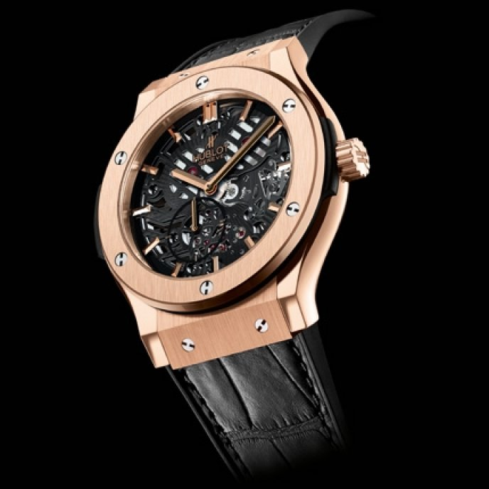Hublot - Classic Fusion Ultra Plate Squelette King Gold