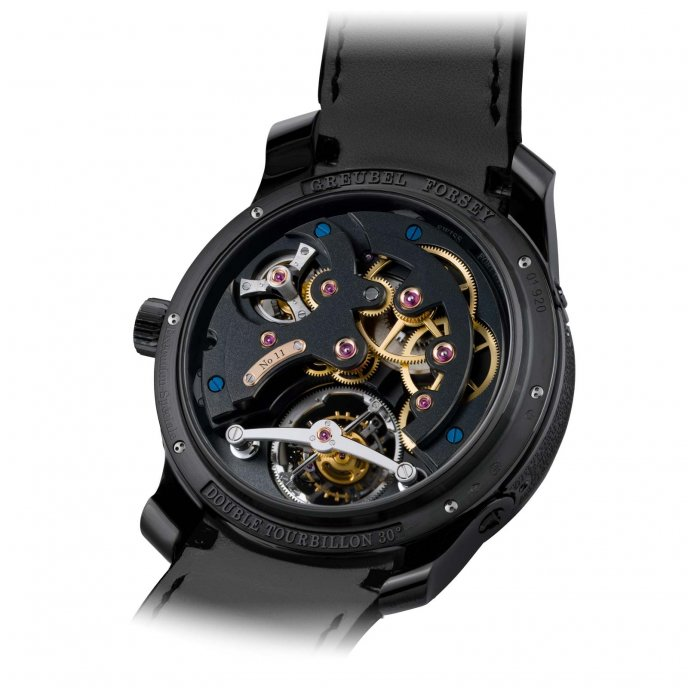 Greubel Forsey Double Tourbillon 30° Technique Black Titanium - back view