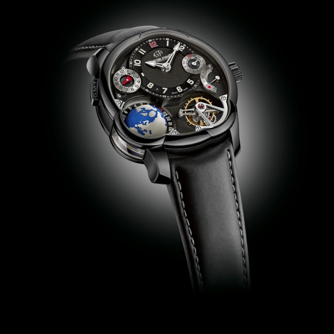 Greubel Forsey GMT Black Edition Unique 22 Pièces Watch Face View