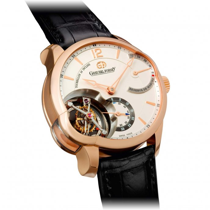 Greubel Forsey Tourbillon 24 Secondes Asymétrique Red Gold Silvered Gold Dial - face view