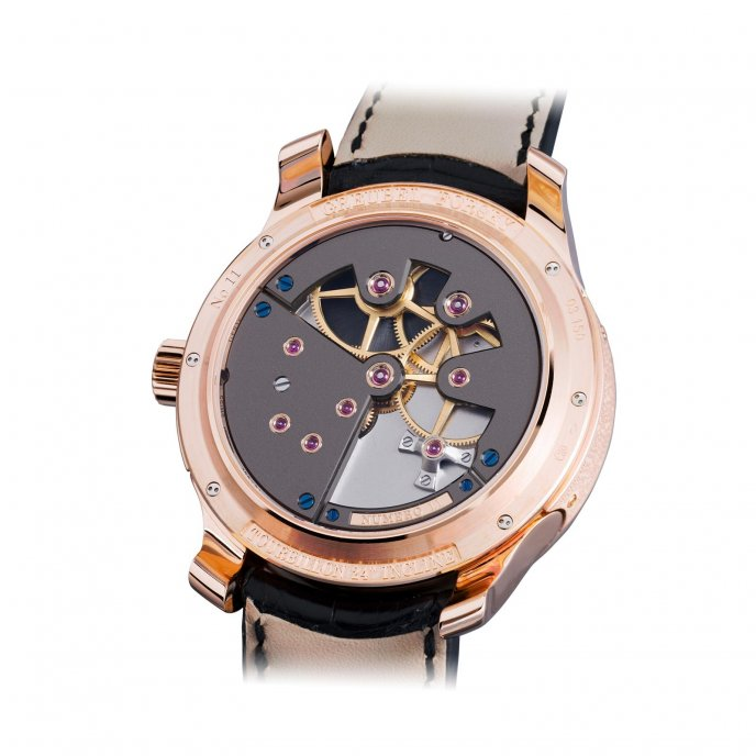 Greubel Forsey Tourbillon 24 secondes Contemporain red gold silvered dial - back view