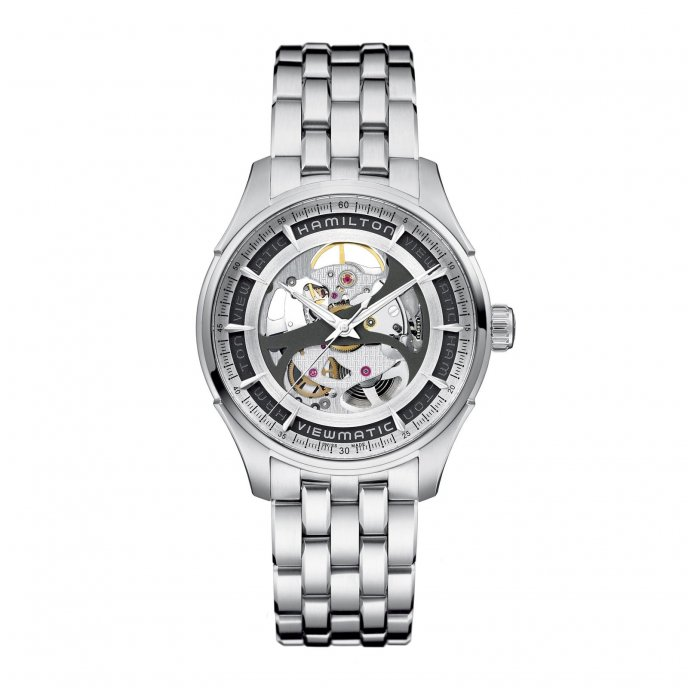 Hamilton Jazzmaster Viewmatic Skeleton Gents H42555151 - face view