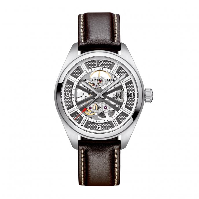 Hamilton Khaki Skeleton Brown Watch-face-view