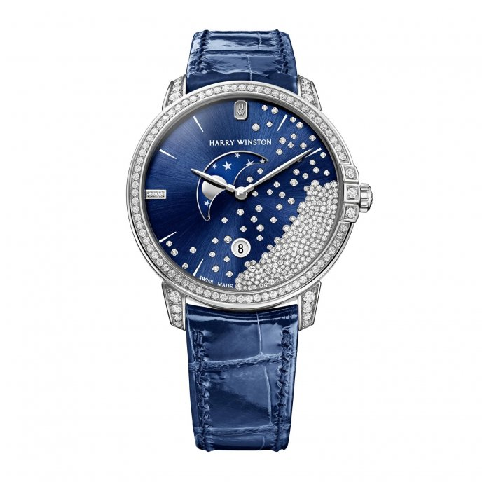 Harry Winston Midnight Diamond Drops Watch-face-view