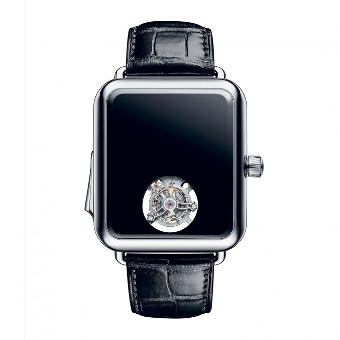 Swiss Alp Watch Minute Concept Black Repeater Tourbillon