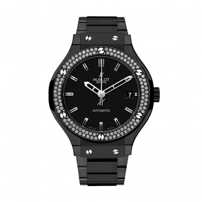 Hublot-Classic Fusion-Black Magic Diamonds Bracelet 38mm-565.CM.1170.CM.1104