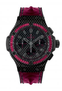 Carbon Bezel Baguette Rubies