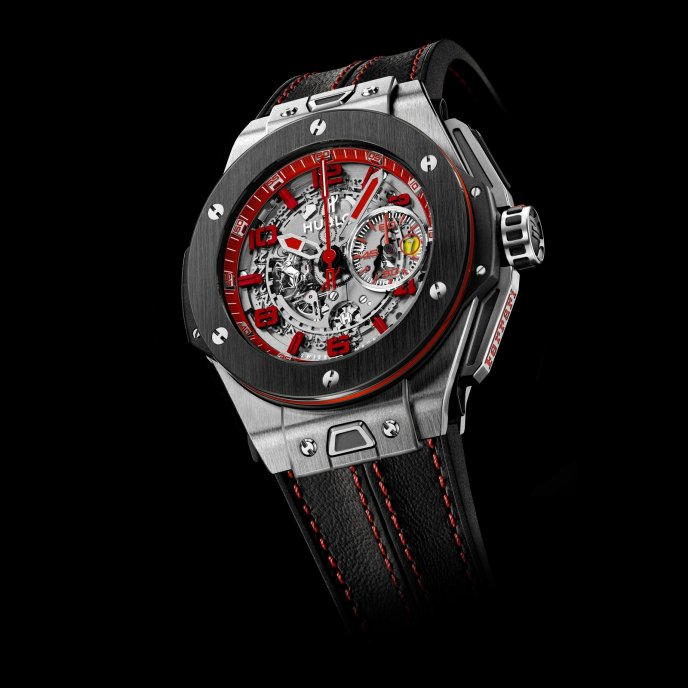 Hublot Big Bang Ferrari UK 401.NM.0123.VR.ENG13 - face view - black strap