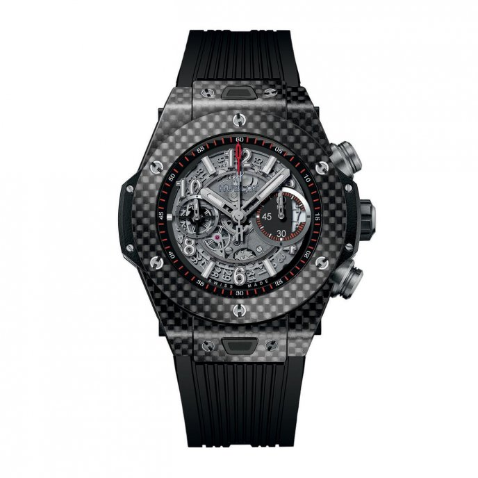 Hublot Big Bang Unico Carbon 411.QX.1170.RX - face view