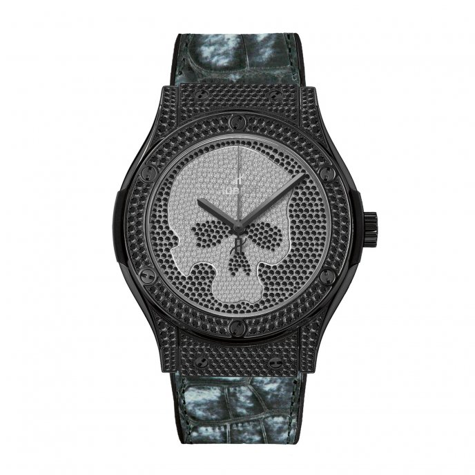 Hublot Classic Fusion Skull Pave 511.ND.9100.LR.1700.SKULL Watch-face-view
