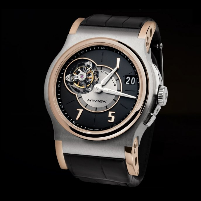 Hysek-Verdict-Tourbillon-45mm-or-rose-Titane-face-view