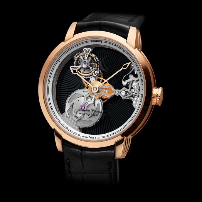 Hysek - IO 45mm skeleton tourbillon - watch face view