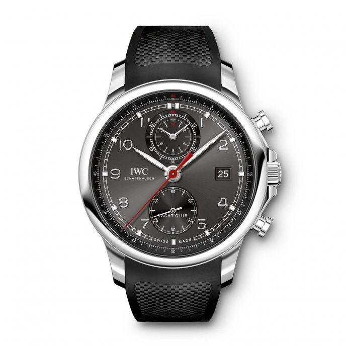 IWC Portugaise Yacht Club Chronographe IW390503 watch face view
