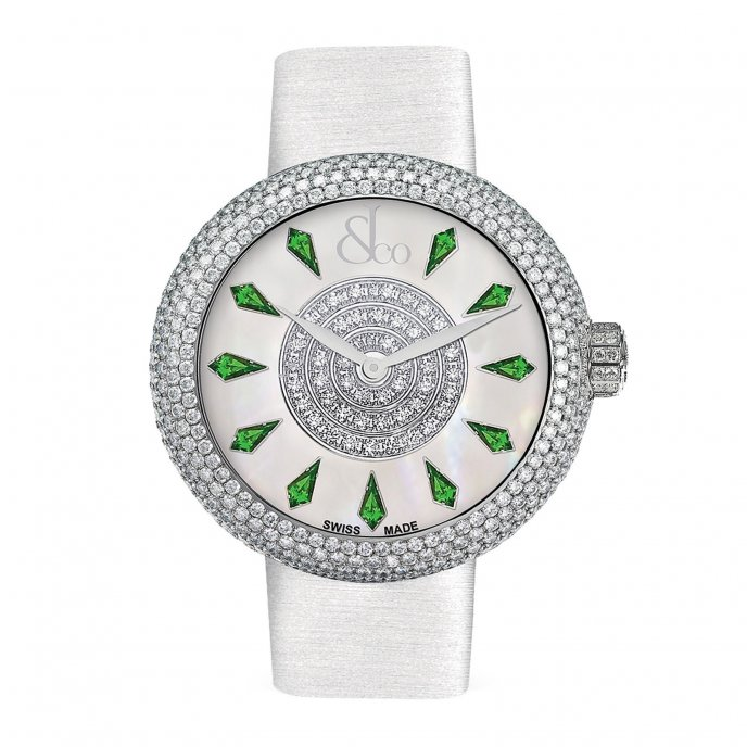 Jacob & Co. Brilliant Half Pave 210.030.10.RH.KD.3RD - watch face view