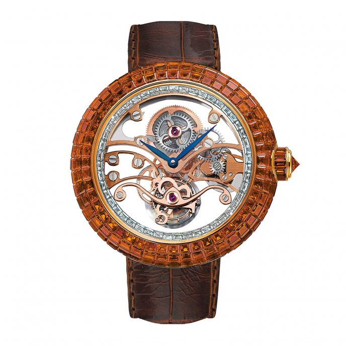 Jacob & Co Brilliant Skeleton Tourbillon 210.542.50.BO.RB.1BO - watch face view