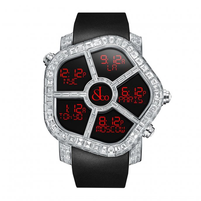 Jacob & Co. Ghost Full Baguette white diamonds 300.800.30.BD.BD.4BD - watch face view