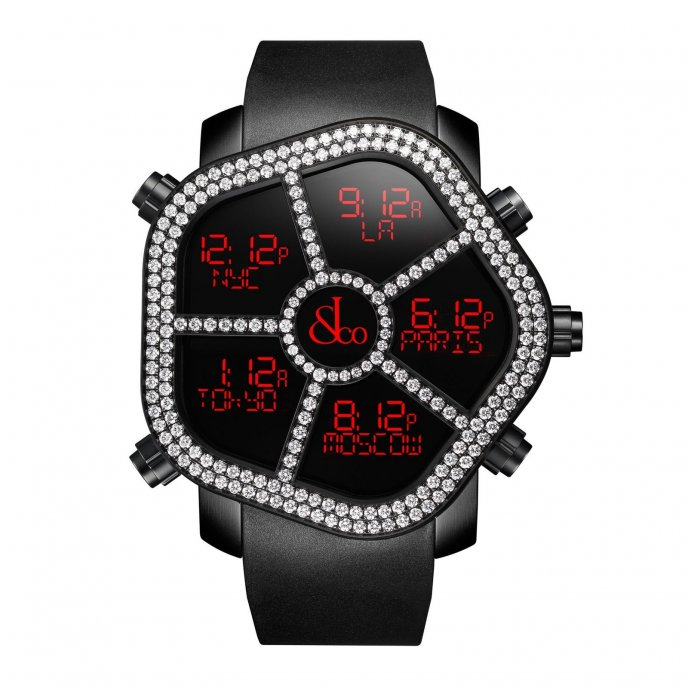 Jacob & Co Ghost Two Rows White Diamond bezel 300.100.11.RU.MB.4NS - watch face view