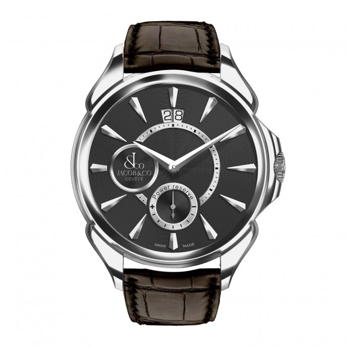 Jacob & Co. Palatial Classic Manual Big Date Steel Case 100.400.10.NS.NK2.1NS - watch face view
