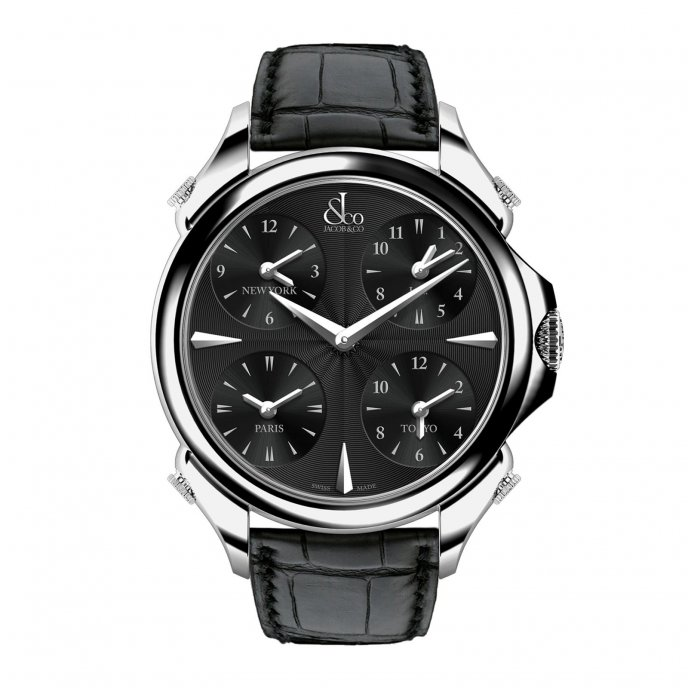Jacob & Co. Palatial Five Time Zone 100.500.10.RO.LA.1NS - watch face view