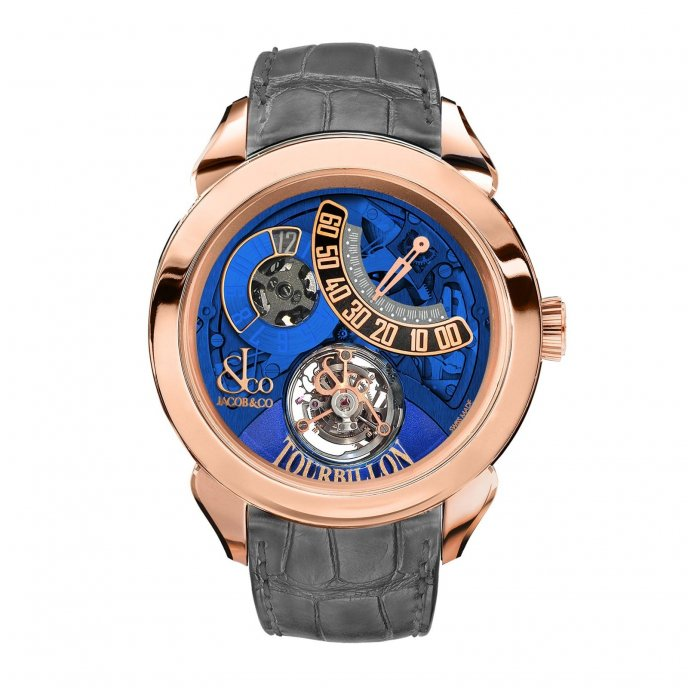 Jacob & Co. Palatial Tourbillon Jumping Hour 150.510.40.NS.PB.1NS - watch face view
