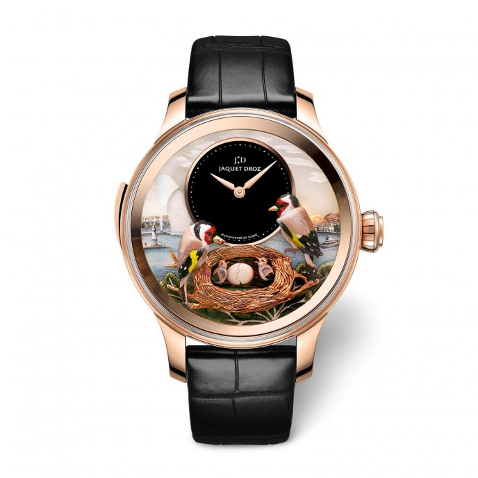 Jaquet Droz Les Ateliers d'Art The Bird Repeater Geneva J031033204 watch face view