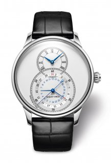 Grande Seconde Dual Time Silver