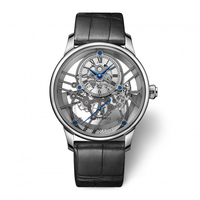 Grande Seconde Squelet-One White Gold Sapphire