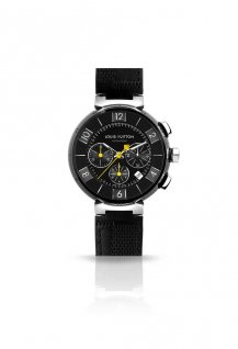 Tambour In Black Chronograph