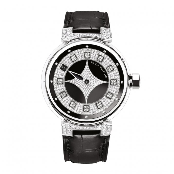 Louis Vuitton Tambour Spin Time Galaxie Watch-face-view