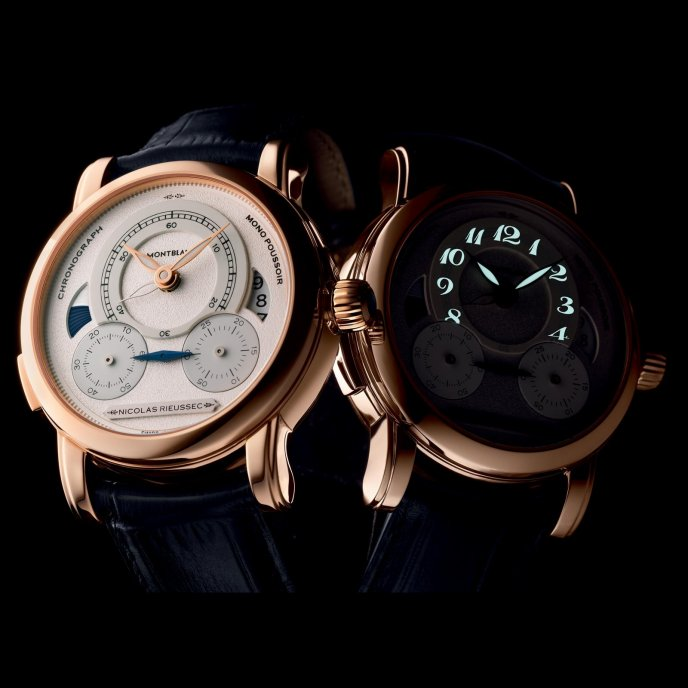 Montblanc Homage to Nicolas Rieussec 111592 - watch night mood