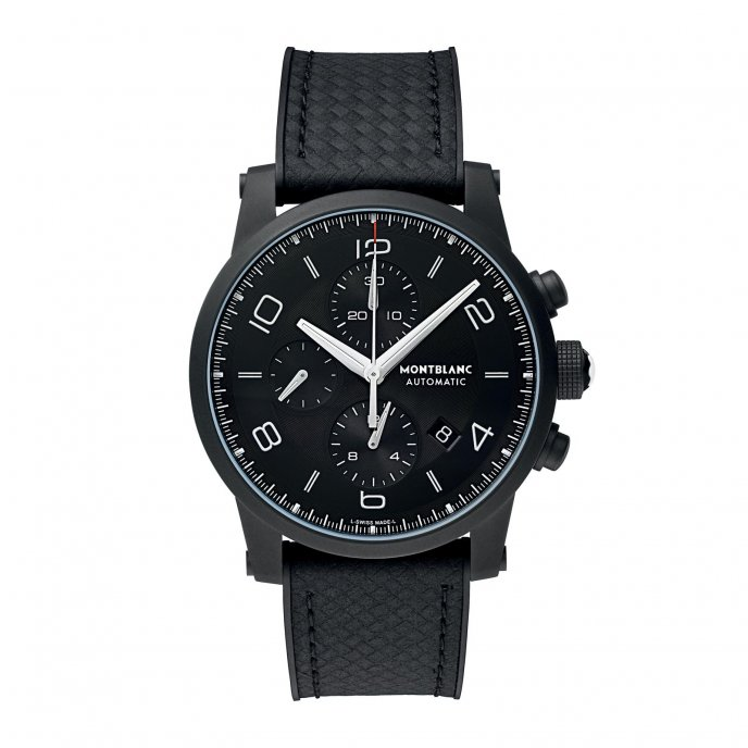 Montblanc TimeWalker Extreme Chronograph DLC 111197 - watch face view
