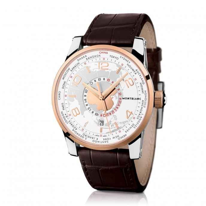 Montblanc TimeWalker World-Time Sinosphere - Limited Edition 110323 - face view