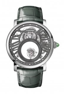 Rotonde de Cartier Mysterious Skeleton Double Tourbillon Watch