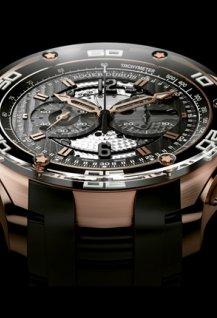 Chronographe en or rose