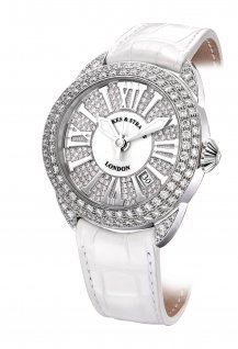 Piccadilly 45 White Gold - Two Rows - Mother of Pearl & Exterior-set dial