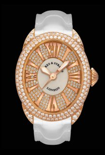 Regent 3238 Rose Gold - Two Rows - Mother of Pearl & Exterior Set Dial